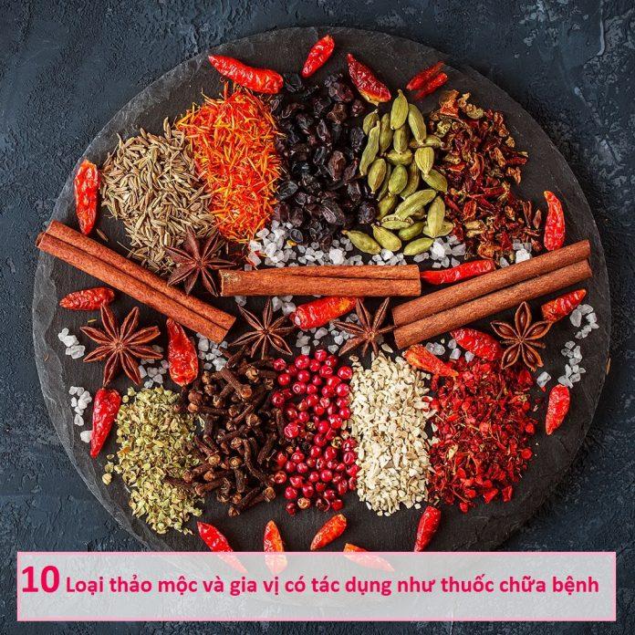 10 Loại thảo mộc và gia vị thơm ngon có tác dụng như thuốc chữa bệnh