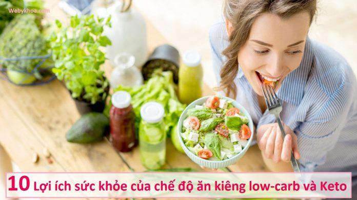 10 lợi ích sức khỏe của chế độ ăn kiêng low-carb và Keto