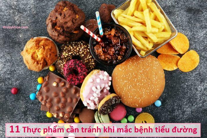 11 Thực phẩm cần tránh khi mắc bệnh tiểu đường