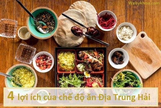 4 lợi ích của chế độ ăn Địa Trung Hải