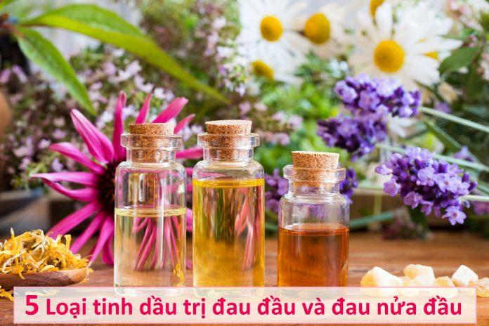 5 Loại tinh dầu trị đau đầu và đau nửa đầu