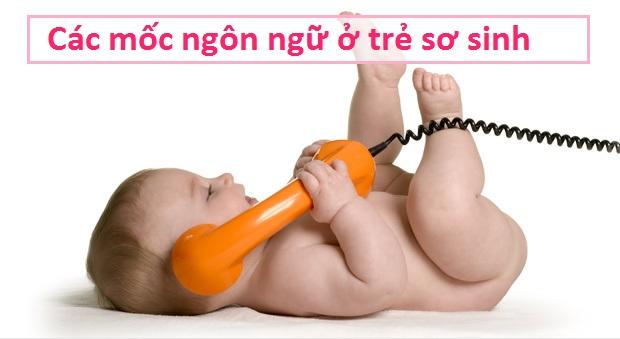 Các mốc ngôn ngữ ở trẻ sơ sinh đến 12 tháng tuổi