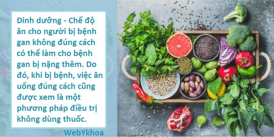 Dinh dưỡng - Chế độ ăn cho người bị bệnh gan