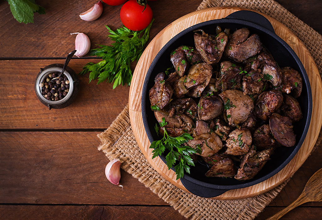 Gan là một trong những thực phẩm giàu folate nhất