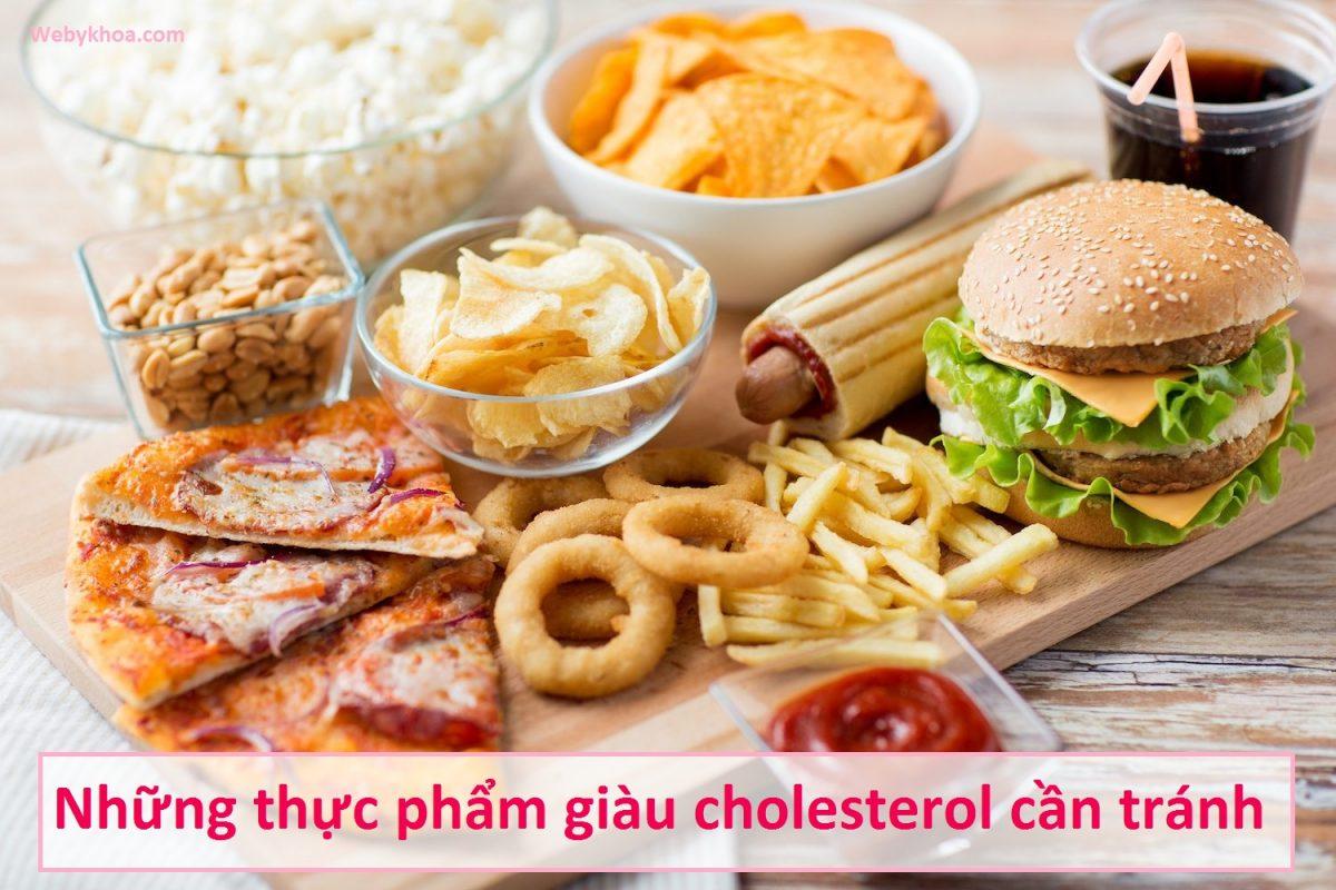 Những thực phẩm giàu cholesterol cần tránh