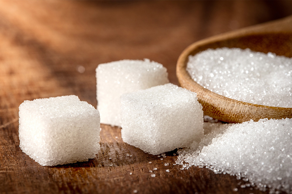 đường trắng, đường ăn đường tinh luyện